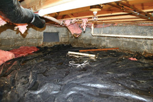 Crawl Space Repair Before in Poughkeepsie