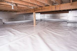 crawl space vapor barrier in Wappingers Falls installed by our contractors