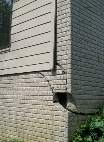 severe cracking of structural walls in Nanuet