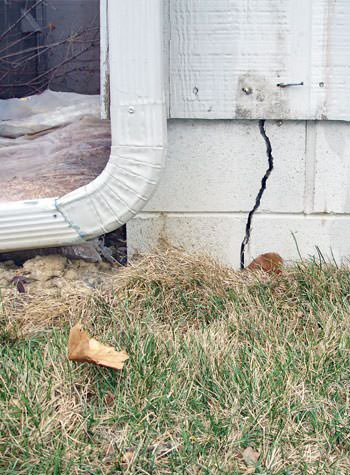 foundation wall cracks due to street creep in Stony Point