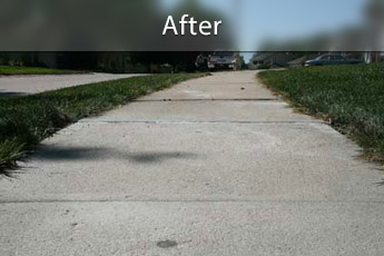 After photo of PolyLevel® concrete sidewalk repair in Poughkeepsie