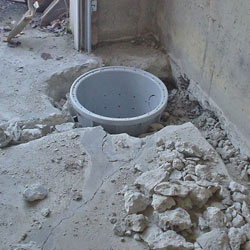 Placing a sump pit in a Warwick home
