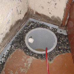 Installing a sump in a sump pump liner in a Newburgh home