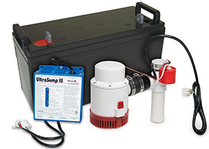a battery backup sump pump system in Hopewell Junction