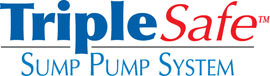 Sump pump system logo for our TripleSafe™, available in areas like Walden