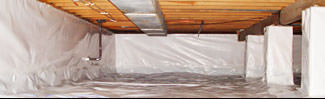 an encapsulated crawl space system in Wappingers Falls