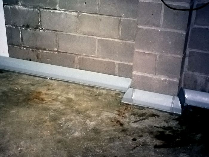 ... Our baseboard drain system installed on a corner in a New City basement. : floor drains in basements  - Aeropaca.Org