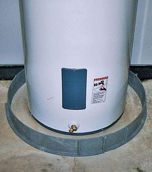An old water heater in Wallkill, NY with flood protection installed