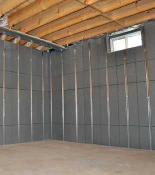 Installed basement wall panels installed in New City