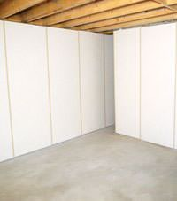 Unfinished basement insulated wall covering in Nanuet, New York