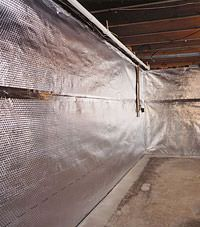 Radiant heat barrier and vapor barrier for finished basement walls in Nanuet, New York